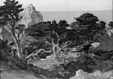 Paul Dougherty (American, 1877-1947). Misty Afternoon, Point Lobos, ca. 1915. Watercolor, Sheet: 14 3/16 x 20 1/8 in. (36 x 51.1 cm). Brooklyn Museum, Museum Collection Fund and Frederick Loeser Fund, 17.48