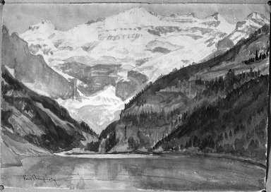Paul Dougherty (American, 1877-1947). Victoria Glacier, Lake Louise. Watercolor over pencil, Sheet: 13 3/4 x 19 11/16 in. (35 x 50 cm). Brooklyn Museum, Museum Collection Fund and Frederick Loeser Fund, 17.49