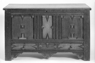 Brooklyn Museum: Panelled Oak Chest
