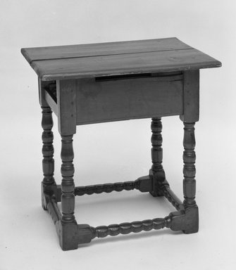 Tavern Table, 17th or 18th Century. Pine, 24 x 17 x 24 1/4 in. (61 x 43.2 x 61.6 cm). Brooklyn Museum, Gift of Mrs. C. V. Sanborn, 18.154. Creative Commons-BY