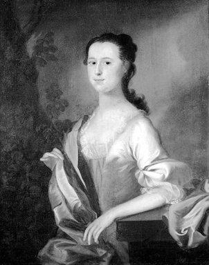 Joseph Blackburn (American, active ca. 1750-1780). Mrs. Wyseman Clagett (Née Lettice Mitchell; Later Mrs. Simon McQuesten), ca. 1760. Oil on canvas, 36 1/16 x 27 3/4 in. (91.6 x 70.5 cm). Brooklyn Museum, Caroline H. Polhemus Fund, 18.43