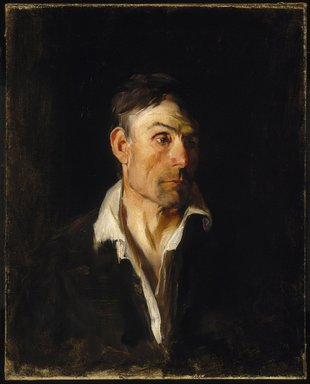 Frank Duveneck (American, 1848-1919). Portrait of a Man  (Richard Creifelds), ca. 1876. Oil on canvas, 29 3/4 x 23 7/8 in. (75.5 x 60.7 cm). Brooklyn Museum, Gift of Eleanor C. Bannister, 18.47