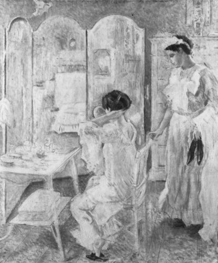 Camillo Innocenti (Italian, 1871-1961). Morning (Mattino), n.d. Oil on canvas, 21 5/8 x 18 1/8 in. (54.9 x 46 cm). Brooklyn Museum, Museum Collection Fund, 19.108