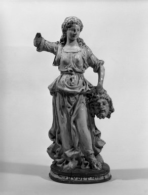 Workshop of Giovanni della Robbia (Italian, Florentine, 1469-1529/30). Judith with the Head of Holofernes, late 15th or early 16th century. Glazed white terracotta, 23 1/2 x 12 1/2 x 6 1/2 in. (59.7 x 31.8 x 16.5 cm). Brooklyn Museum, Purchased with funds given by A. Augustus Healy and Robert B. Woodward Memorial Fund, 19.114. Creative Commons-BY