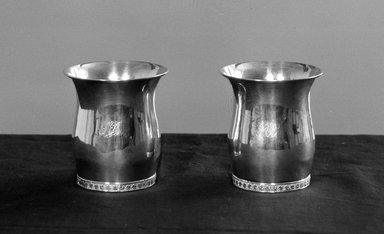 American. Pair of Beakers. Silver Brooklyn Museum, Gift of Mrs. Edward McClure Peters, 19.123a-b. Creative Commons-BY