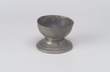 Salt, late 17th or early 18th century. Pewter, 2 x 2 5/8 x 2 5/8 in. (5.1 x 6.7 x 6.7 cm). Brooklyn Museum, Gift of Nestor Sanborn, 19.168. Creative Commons-BY