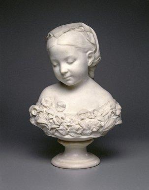 Thomas Ball (American, 1819-1911). La Petite Pensée, 1873. Marble, 19 5/16 x 12 3/16 x 7 1/2 in. (49.1 x 31 x 19.1 cm). Brooklyn Museum, Gift of the children of Elizabeth A. Mason, 19.182