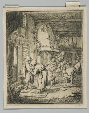 Adriaen van Ostade (Dutch, 1610-1685). The Peasant Settling His Debt, 1644?. Etching, sheet: 4 3/8 x 3 5/8 in. (11.1 x 9.2 cm). Brooklyn Museum, Gift of Mrs. Algernon Sydney Sullivan and George H. Sullivan, 19.184.13