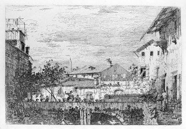 Giovanni Antonio Canal, called Canaletto (Italian, Venetian, 1697-1768). La Terraza (Top) and Imaginary View of S. Giacomo di Rialto (Bottom). Etching (restrike), Sheet: 15 3/16 x 10 5/8 in. (38.6 x 27 cm). Brooklyn Museum, Gift of Mrs. Algernon Sydney Sullivan and George H. Sullivan, 19.184.23a-b