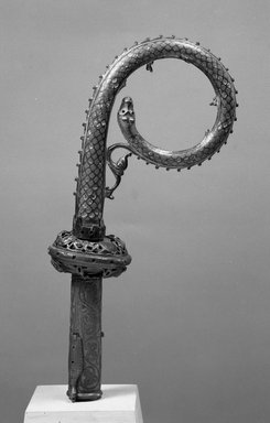 Crozier, 14th century. Copper enamel, 12 3/16 in. (31 cm). Brooklyn Museum, Bequest of William H. Herriman, 19.58. Creative Commons-BY
