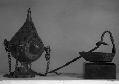 Small Lamp, Late 15th century. Iron, 3 1/4 x 3 1/2 in. (8.3 x 9 cm). Brooklyn Museum, Bequest of William H. Herriman, 19.60. Creative Commons-BY