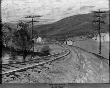 Lilian Haines Crittenden (American, 1858-1919). Erie Railroad - Mountainville. Pastel on paperboard, 14 1/2 x 19 7/16 in. (36.8 x 49.4 cm). Brooklyn Museum, Gift of Walter H. Crittenden, 19.97