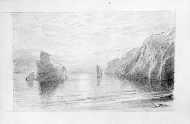William Trost Richards (American, 1833-1905). Sketchbook. Pencil on paper, 4 15/16 x 8 x 9/16 in. (12.5 x 20.4 x 1.5 cm). Brooklyn Museum, Gift of Edith Ballinger Price, 75.15.9