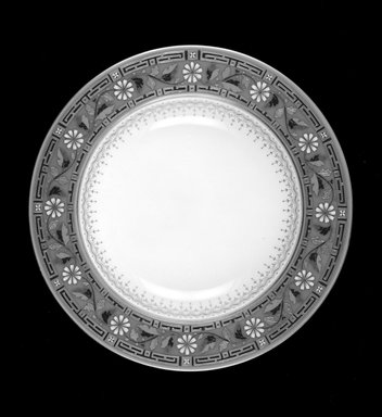 Minton. Soup Plate, ca. 1872. Porcelain with gilt and enamel decoration, Diameter: 10 1/16 in., height: 1 1/8 in. Brooklyn Museum, Gift of Daniel Morris and Denis Gallion, 1989.108. Creative Commons-BY