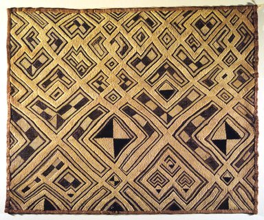 Kuba (Shoowa subgroup). Raffia Cloth Panel Marked K313, 20th century. Raffia, 28 3/4 x 23 5/8 in. (73.0 x 60.0 cm). Brooklyn Museum, Gift of The Roebling Society, 1989.11.2. Creative Commons-BY