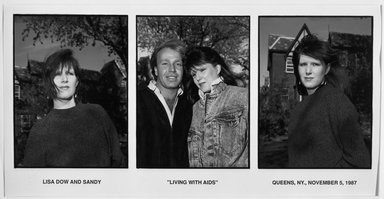 Thomas McGovern (American, born 1957). Lisa Dow and Sandy, 1987. Gelatin silver photograph on photographic paper, Sheet: 20 1/16 x 23 13/16 in.  (51 x 60.5 cm). Brooklyn Museum, Carll H. de Silver Fund, 1989.140.1a-c. © Thomas McGovern