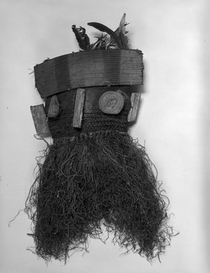 Salampasu. Mask, 20th century. Wood, vegetable fiber, feathers, 27 x 16 x 8 in. (68.6 x 40.6 x 20.3 cm). Brooklyn Museum, Gift of Ruth Lippman in memory of Abbott A. Lippman, 1989.174.2. Creative Commons-BY