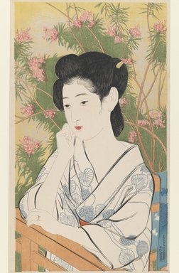 Hashiguchi Goyo (Japanese, 1880-1921). Woman at a Hot Spring Hotel, 1920. Woodblock print, 17 1/2 x 10 3/8in. (44.5 x 26.4cm). Brooklyn Museum, Gift of Herbert Libertson, 1989.178