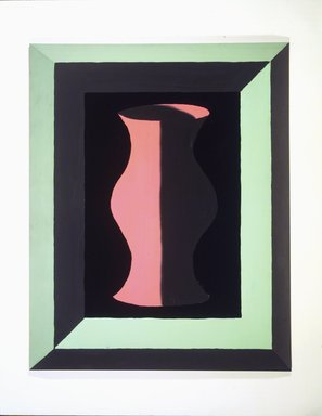 Jedd Garet. Pink and Grey Vase, 1979. Acrylic on wood, 39 x 31 x 3in. (99.1 x 78.7 x 7.6cm). Brooklyn Museum, Gift of Helen Mandelbaum, 1989.183. © Jedd Garet
