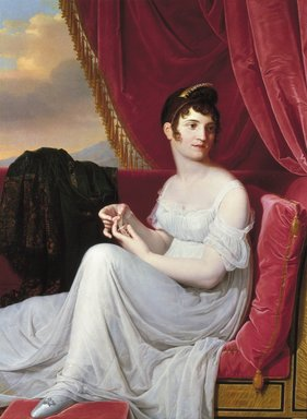 Jean-Bernard Duvivier (Belgian, 1762-1837). Portrait of Madame Tallien, 1806. Oil on canvas, 49 1/2 x 36 3/4 in. (125.7 x 93.3 cm). Brooklyn Museum, Healy Purchase Fund B, 1989.28