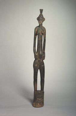 Senufo. Rhythm Pounder (Deble) with Female Figure, 20th century. Wood, 42 x 4 3/4 x 4 in. (106.7 x 12.1 x 10.2 cm). Brooklyn Museum, The Adolph and Esther D. Gottlieb Collection, 1989.51.12. Creative Commons-BY