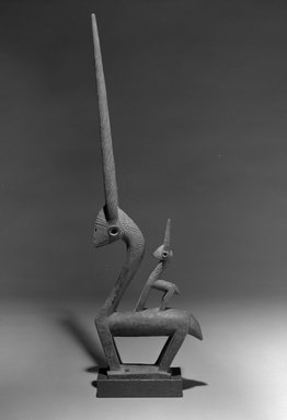 Bamana. Dance Headdress (Ci-wara), early 20th century. Wood, metal, 31 x 9 1/2 x 3 1/8in. (78.7 x 24.1 x 7.9cm). Brooklyn Museum, The Adolph and Esther D. Gottlieb Collection, 1989.51.13. Creative Commons-BY