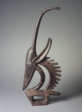 Bamana. Dance Headdress (Ci-wara), late 19th or early  20th century. Wood, metal, ferrous nails, accumulated material, 28 1/2 x 12 x 2 3/4 in. (72.4 x 30.5 x 7 cm). Brooklyn Museum, The Adolph and Esther D. Gottlieb Collection, 1989.51.14. Creative Commons-BY