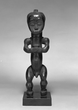 Fang. Reliquary Guardian Figure (Eyema Bieri), 19th-20th century. Wood, metal, 16 x 4 3/4 x 3 3/8 in. (40.7 x 12.1 x 9.0 cm). Brooklyn Museum, The Adolph and Esther D. Gottlieb Collection, 1989.51.46. Creative Commons-BY