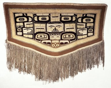 Tlingit, Chilkat (Native American). Chilkat Blanket, late 19th-early 20th century. Goat wool, commercial wool, cedar bark, 53 x 68 1/2 in. (134.6 x 174 cm). Brooklyn Museum, The Adolph and Esther D. Gottlieb Collection, 1989.51.63. Creative Commons-BY