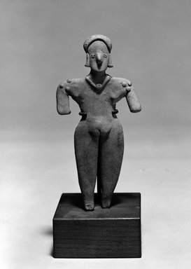 Female Figure. Clay, 7 3/8 x 3 1/2 x 7/8 in. (18.7 x 8.9 x 2.2 cm). Brooklyn Museum, The Adolph and Esther D. Gottlieb Collection, 1989.51.68. Creative Commons-BY