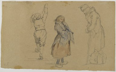 Brooklyn Museum: Three Dutch Figures