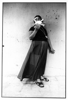 Graciela Iturbide (Mexican, born 1942). Mujer Cangrejo (Crab Woman), Juchitán, Oaxaca, 1985. Gelatin silver photograph, Sheet: 14 x 11 in. (35.6 x 27.9 cm). Brooklyn Museum, Gift of Marcuse Pfeifer, 1990.119.32. © Graciela Iturbide