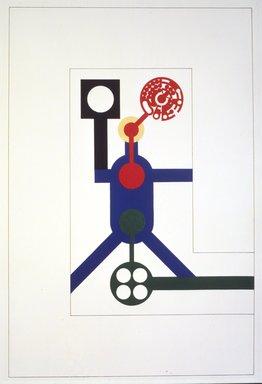Matt Mullican (American, born 1951). Cosmological Model, 1988. Etching with 16 gauge copper plates, sheet: 22 x 15 1/8 in. (55.9 x 38.4 cm). Brooklyn Museum, Frank L. Babbott Fund, 1990.125.1. © Matt Mullican