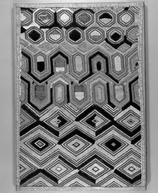 Kuba (Shoowa subgroup). Raffia Cloth, 20th century. Raffia, 23 x 15 in. (58.5 x 38.0 cm). Brooklyn Museum, Purchased with funds given by Frieda and Milton F. Rosenthal, 1990.131.1. Creative Commons-BY