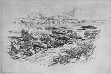 John Henry Hill (American, 1839-1922). Genesee Falls, October 1862 or 1864. Pen and ink on paper, Sheet: 8 7/16 x 11 3/4 in. (21.4 x 29.8 cm). Brooklyn Museum, Purchased with funds given by Mr. and Mrs. Leonard L. Milberg, 1990.18.2