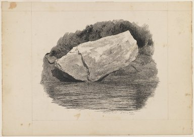 John Henry Hill (American, 1839-1922). Peabody River, 1863. Pen and ink on paper, Sheet: 6 7/8 x 9 3/4 in. (17.5 x 24.8 cm). Brooklyn Museum, Purchased with funds given by Mr. and Mrs. Leonard L. Milberg, 1990.18.3