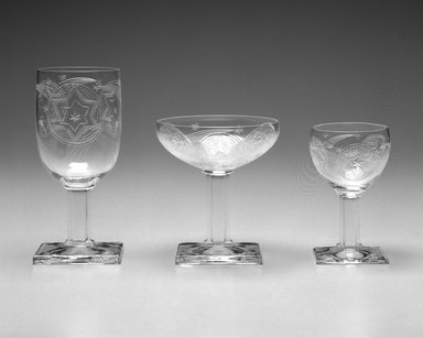 A.H. Heisey & Company (1896-1957). Water Glass, ca. 1930. Glass, 4 5/8 x 4 1/8 x 4 1/8 in. Brooklyn Museum, Gift of Jacques Caussin, 1990.188.2. Creative Commons-BY