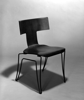 """Donghia Furniture. """"Anziano"""" Side Chair, 1989-1990. Bent plywood, steel, rubber, 31 3/4 x 19 7/8 x 20 7/8 in. (80.6 x 50.5 x 53 cm). Brooklyn Museum, Gift of Donghia, 1990.190. Creative Commons-BY"""