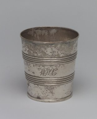 Geradus Boyce (American, 1820-1857). Beaker, ca. 1820. Silver, 3 1/8 x 2 7/8 x 2 7/8in. (7.9 x 7.3 x 7.3cm). Brooklyn Museum, Gift of Wunsch Foundation, Inc., 1990.196.2. Creative Commons-BY
