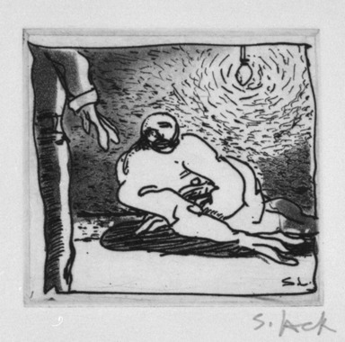 Stephen Lack. More Questions, 1987. Etching and aquatint, Sheet: 9 x 8 in. (22.9 x 20.3 cm). Brooklyn Museum, Gift of Jonathan Seliger, 1990.237.13. © Stephen Lack