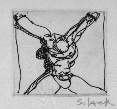 Stephen Lack. Solo Slave, 1987. Etching and aquatint, Sheet: 9 x 8 in. (22.9 x 20.3 cm). Brooklyn Museum, Gift of Jonathan Seliger, 1990.237.16. © Stephen Lack