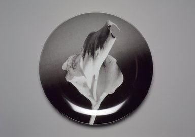 "Robert Mapplethorpe (American, 1946-1989). Plate, ""Flower,"" 1989. Porcelain, 1 1/4 x 12 x 12 in. (3.2 x 30.5 x 30.5 cm). Brooklyn Museum, Gift of Swid Powell, 1990.34.5. Creative Commons-BY"