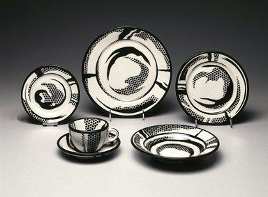 Roy Lichtenstein (American, 1923-1997). Dinner Plate, 1966. Glazed earthenware, 1 1/8 x 10 1/4 x 10 1/4 in. (2.9 x 26 x 26 cm). Brooklyn Museum, Modernism Benefit Fund, 1990.37.1. Creative Commons-BY