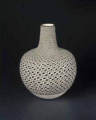 Grace Chino (Haak'u (Acoma Pueblo), Native American, 1929-1995). Vase, 1989. Clay, slip, 15  x 36 3/8 in. (38.1 x 92.4cm). Brooklyn Museum, Augustus Graham School of Design Fund, 1990.68. Creative Commons-BY