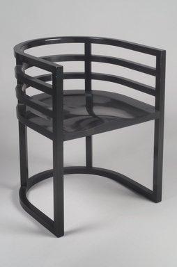 Richard Meier (born 1934). Armchair, No. 810, ca. 1982. Hard maple, laminated hard maple veneer, 27 5/8 x 21 x 20in. (70.2 x 53.3 x 50.8cm). Brooklyn Museum, Gift of Knoll International, 1990.86.4. Creative Commons-BY