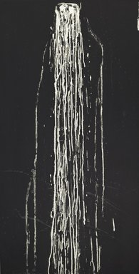 Pat Steir (American, born 1940). Long Vertical Falls #4, 1991. Soapground and spit bite aquatint etching on heavy wove paper, sheet: 53 1/4 x 30 in. (135.3 x 76.2 cm). Brooklyn Museum, Carll H. de Silver Fund, 1991.120.4. © Pat Steir