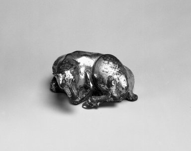 Weight in the Form of a Ram, 206 B.C.E. - C.E. 220. Gilt bronze, height: 1 1/2 in. Brooklyn Museum, Gift of Alan and Simone Hartman, 1991.127.9. Creative Commons-BY