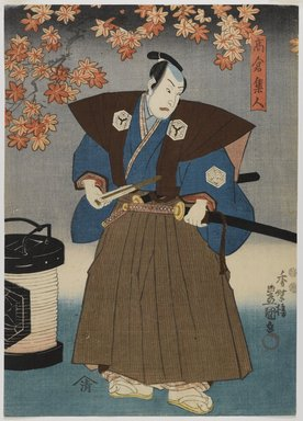 Utagawa Kunisada II (Japanese, 1823-1880). Two Actors, 19th century. Woodblock print, color and ink on paper, a: 13 5/8 x 9 3/4 in. Brooklyn Museum, Gift of Dr. Bertram H. Schaffner in memory of Dr. John P. Spiegel, 1991.129a-b