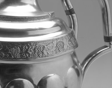Nicholas Bogert (1800-1835). Teapot, ca. 1835. Silver, 10 1/2 x 12 1/4 x 5 1/2 in. (26.7 x 31.1 x 14.0 cm);        weight 1010.7 gm. Brooklyn Museum, Gift of Wunsch Foundation, Inc., 1991.142.1. Creative Commons-BY