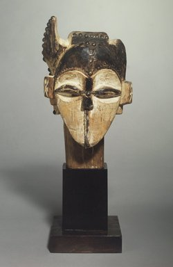 Fang. Marionette Head?, 19th century. Wood, metal, pigment, 12 5/16 x 6 9/16 x 5 15/16 in. (31.2 x 16.7 x 15.0 cm). Brooklyn Museum, Gift of Corice and Armand P. Arman, 1991.169.3. Creative Commons-BY